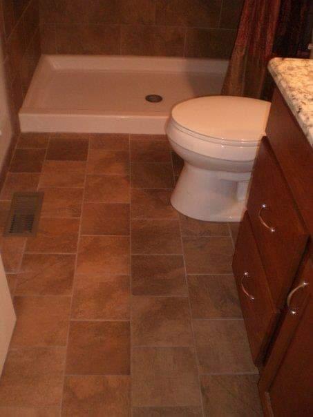 porcelain tile bond pattern floor