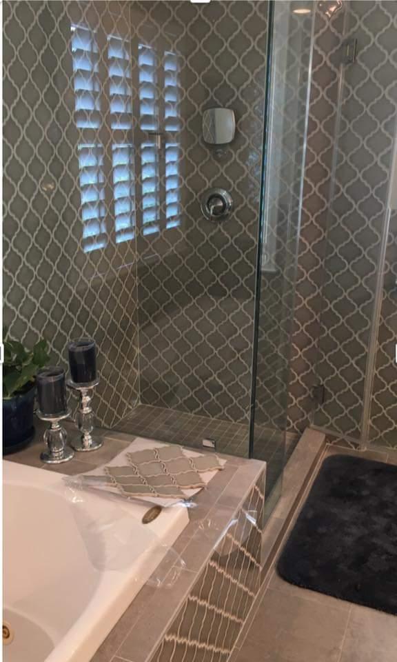 decorative tile shower