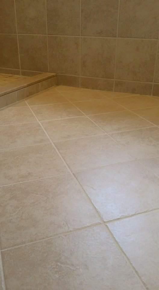 Tile floor on diagonal
