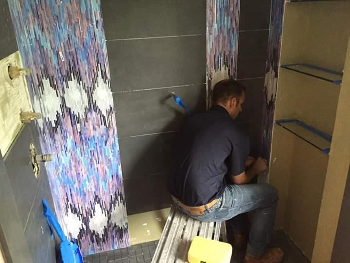 Peter Kulp Installing Custom Tiling
