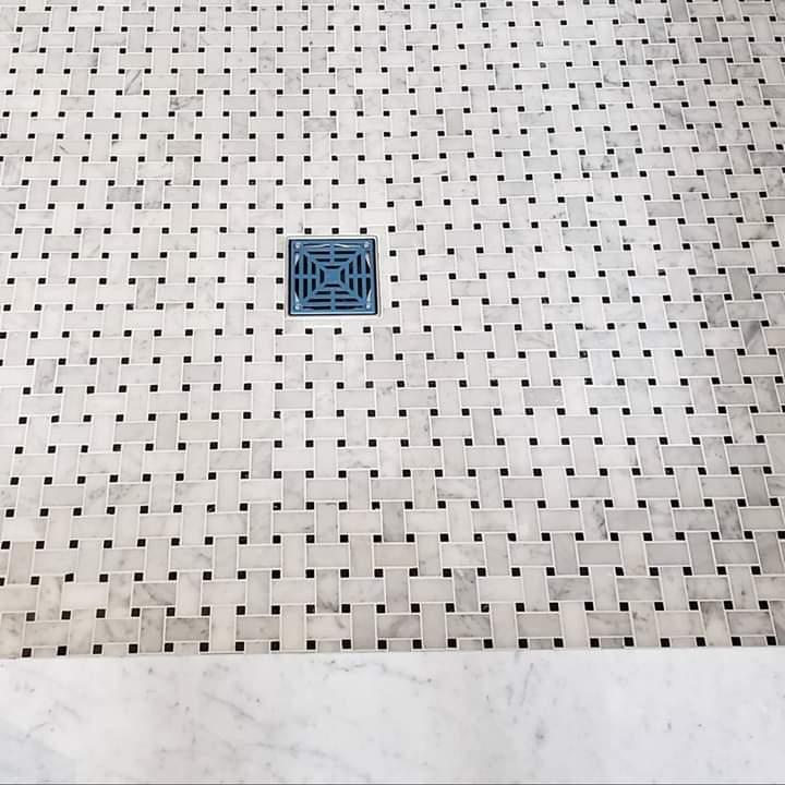 Custom Shower Floor Tiling