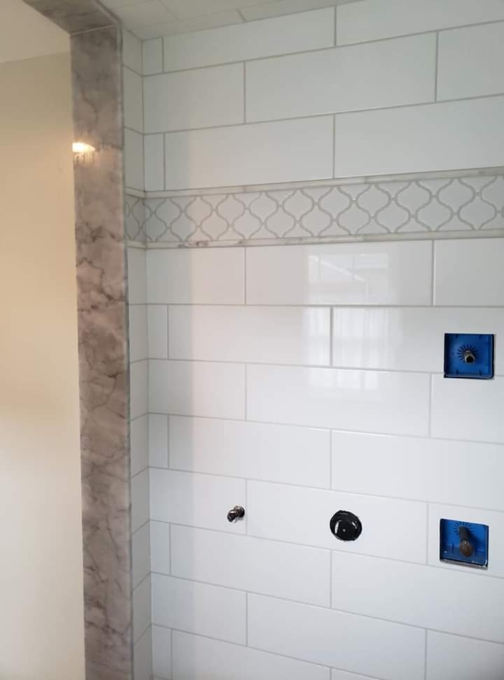 custom shower marble jambs