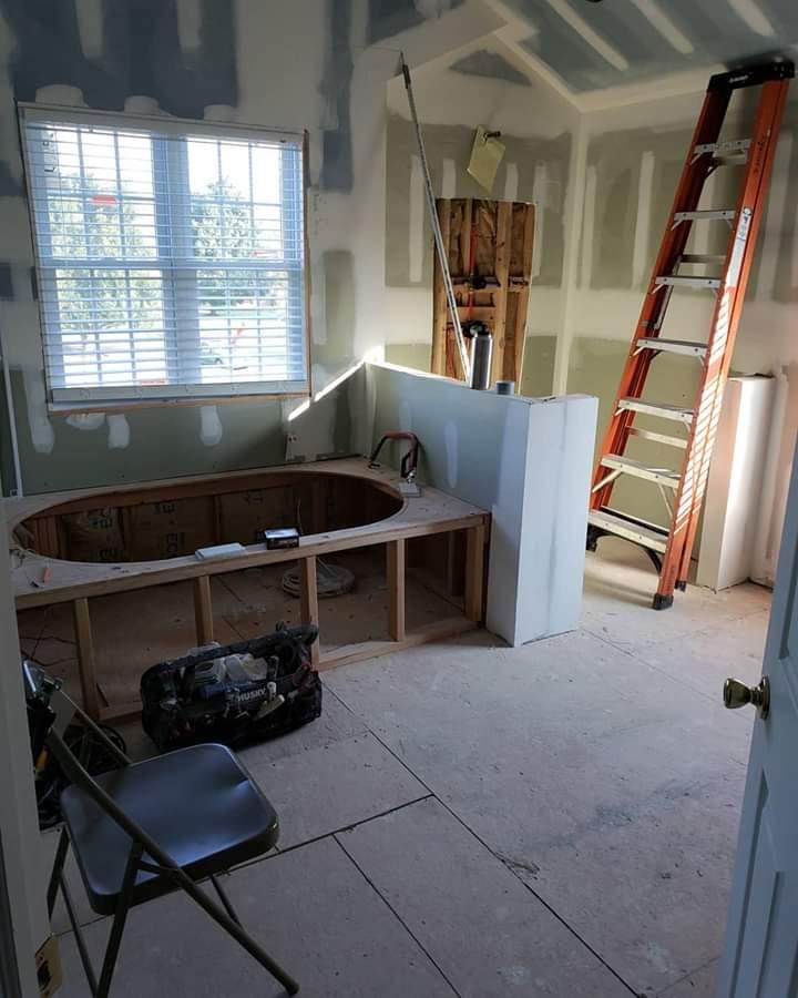 marble bathroom before