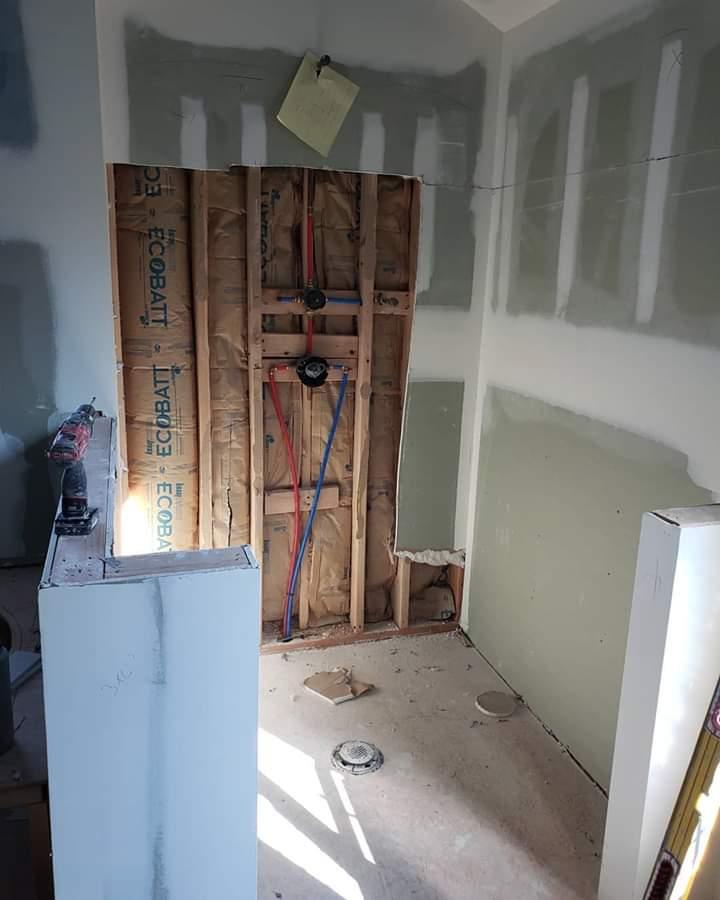 marble bathroom shower before