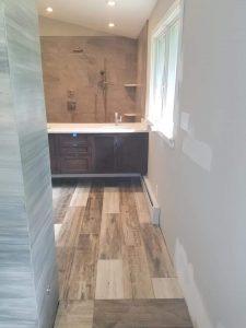 plank floor bathroom