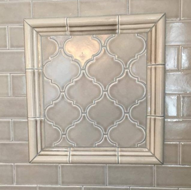 shower decorative inset