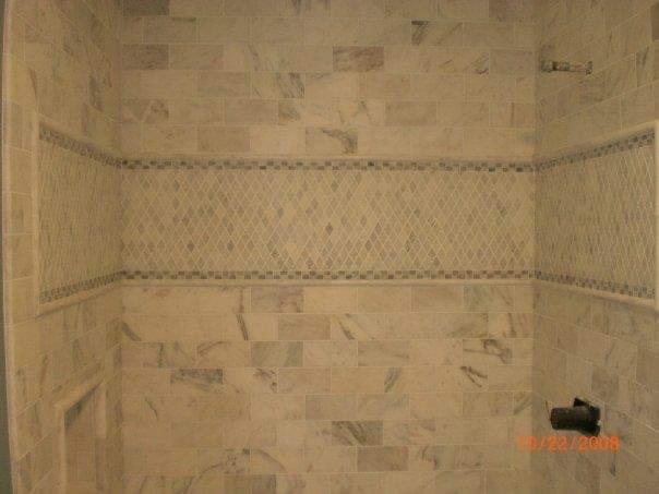 tile shower deco strip