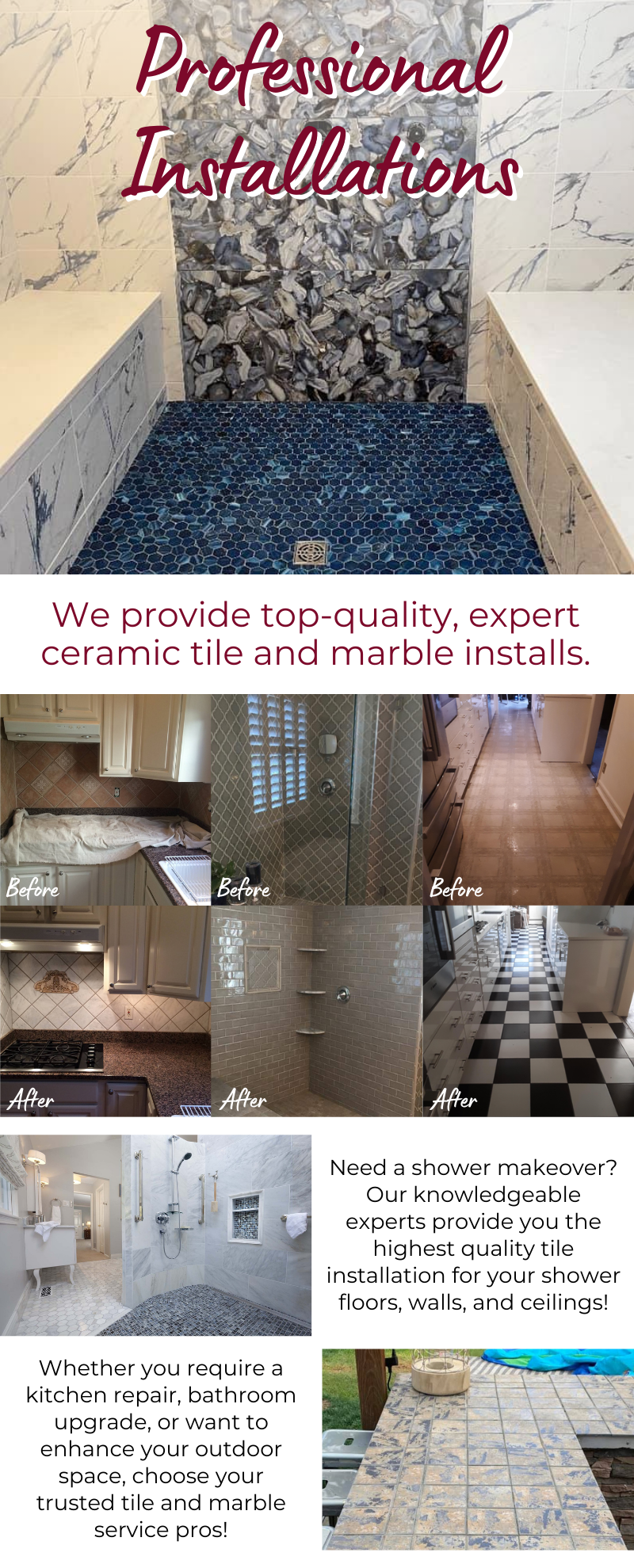 Professional Tile Installations! 13